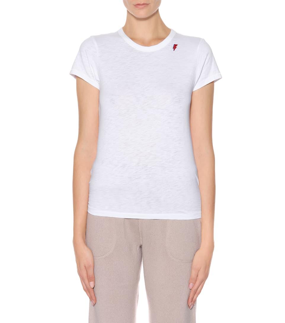 T-shirt En Coton Et Chiffon