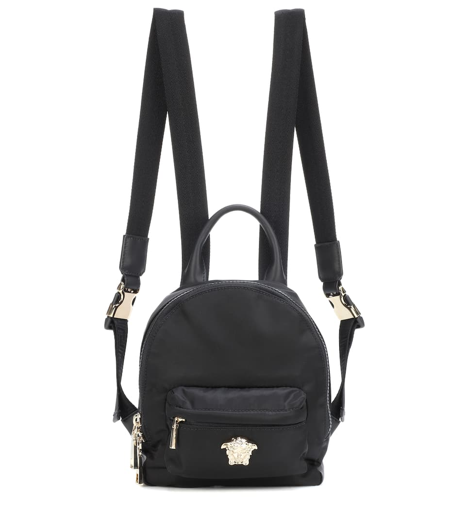 Palazzo Mini Nylon Backpack in Black