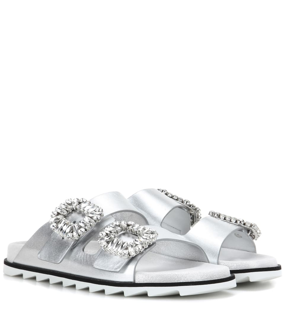 Slidy Viv leather sandals Roger Vivier FNqaanoc8