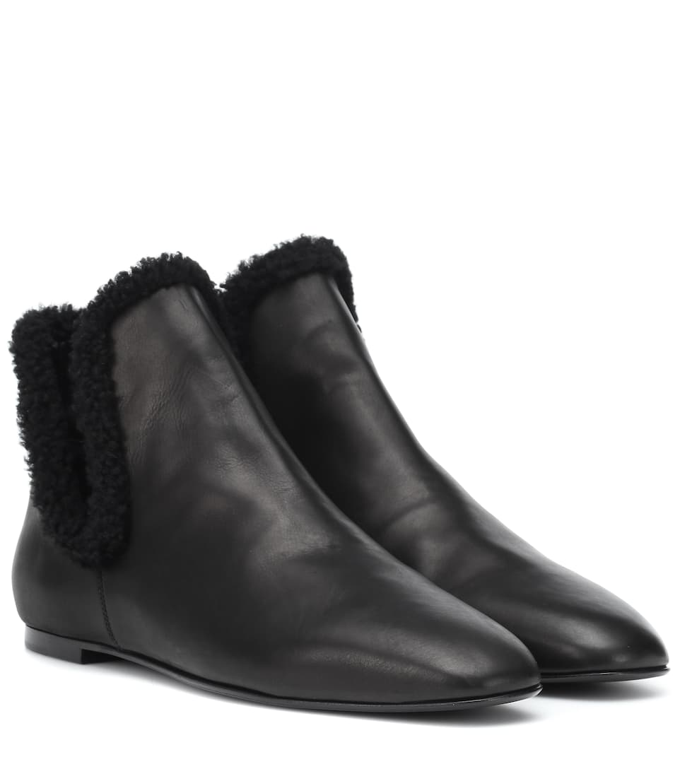 Eros Shearling-Lined Ankle Boots | The