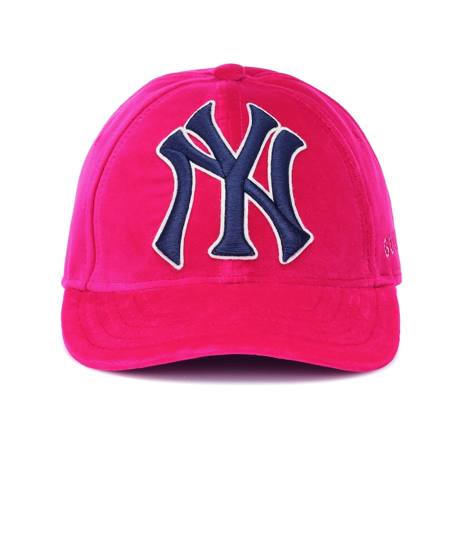 2bab33e52 Ny Yankees Velvet Baseball Cap | Gucci - mytheresa.com