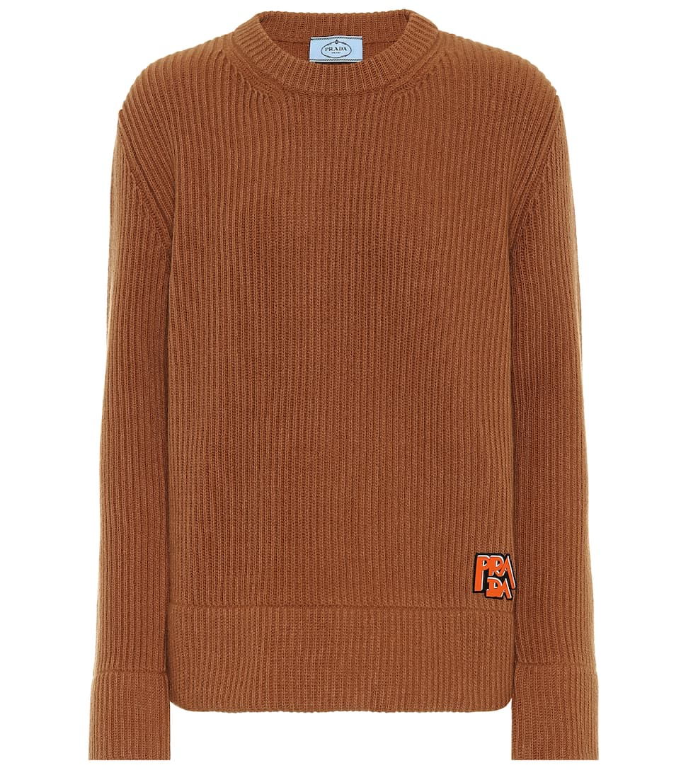Prada - Ribbed cashmere and wool sweater
