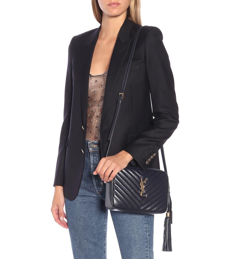 Lou Camera Leather Crossbody Bag Saint Laurent Mytheresa