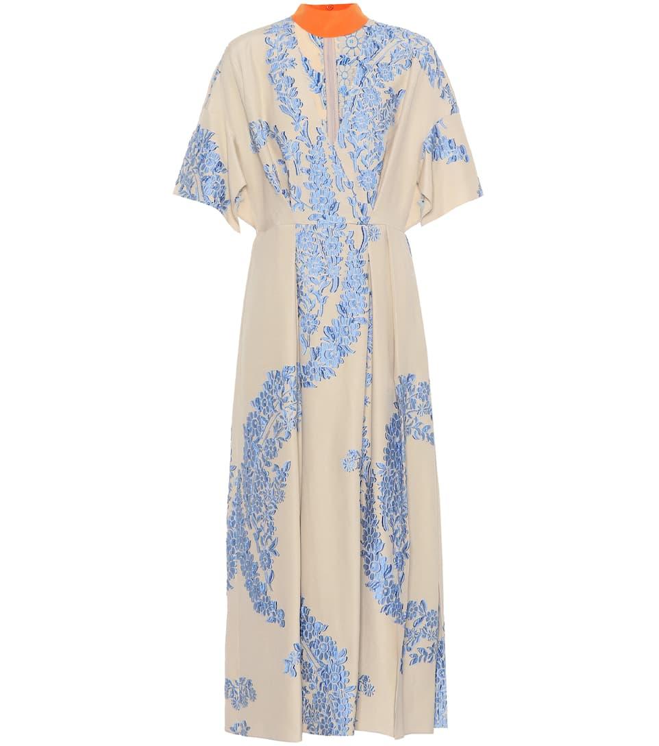 Fendi Besticktes Kleid mit Seidenanteil Komfortabel Günstig Online Meistverkauft F9luc2