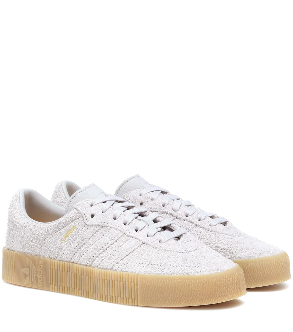 cab47e3349e Adidas Originals - Samba Rose suede sneakers