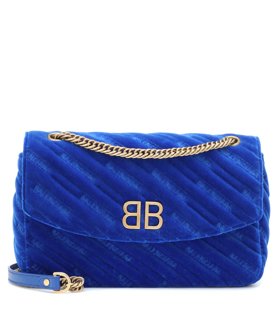 BB Round velvet shoulder bag Balenciaga fph2w3e4
