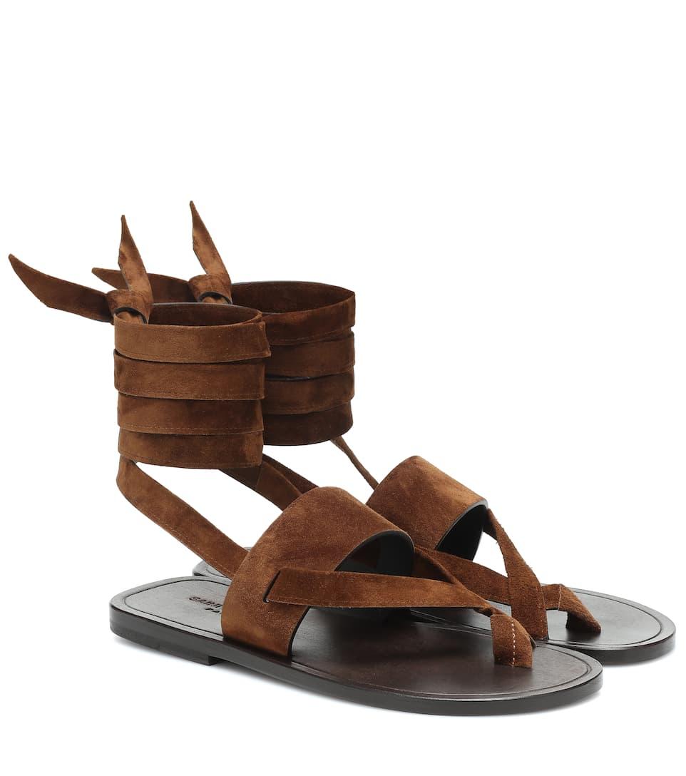 Sandalen Culver aus Veloursleder