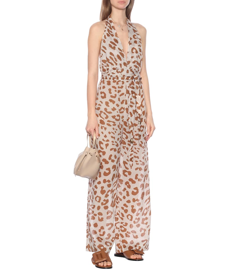 Nanushka - Alayna animal-print cotton jumpsuit