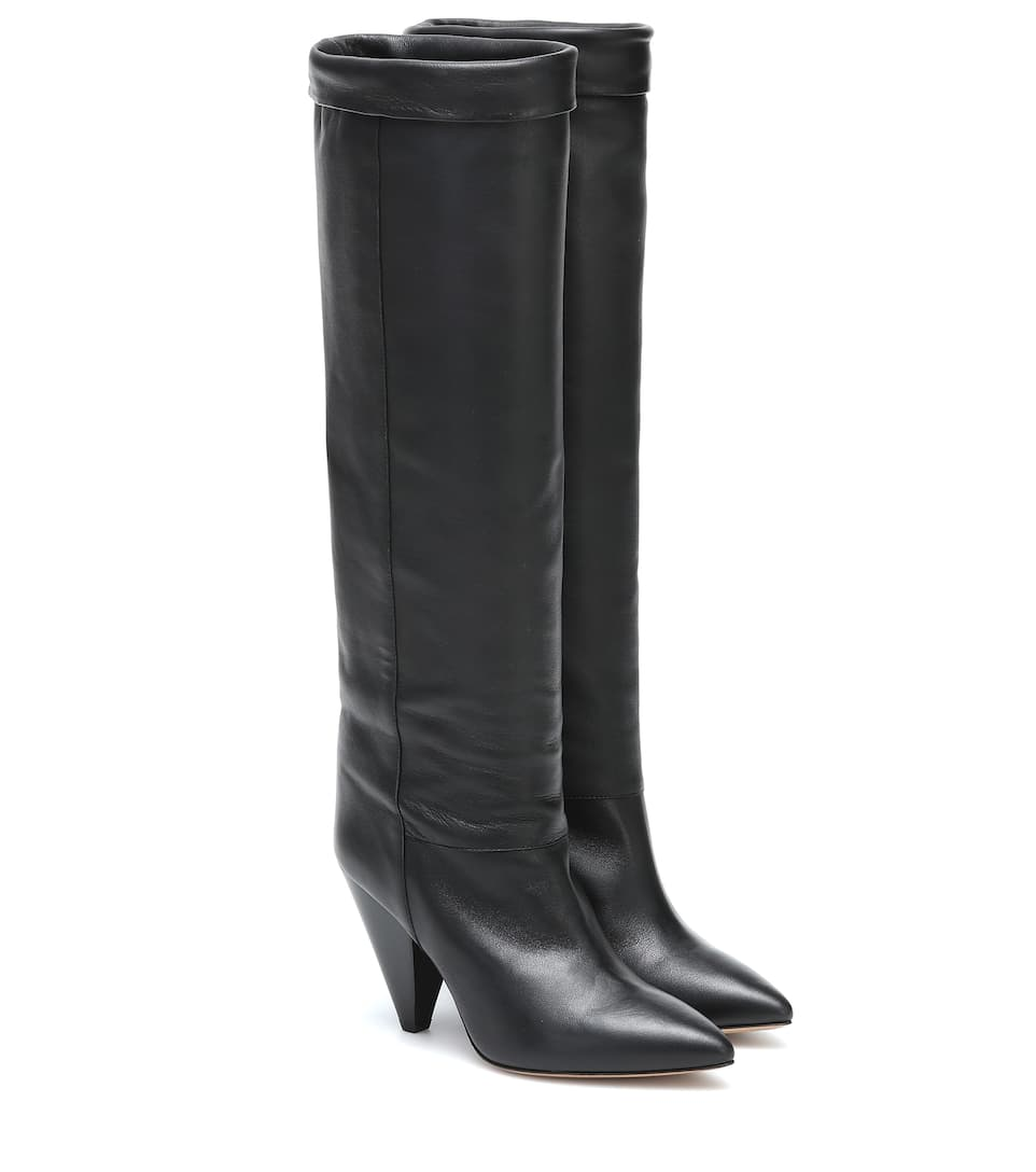 Loens Leather Knee-High Boots | Isabel