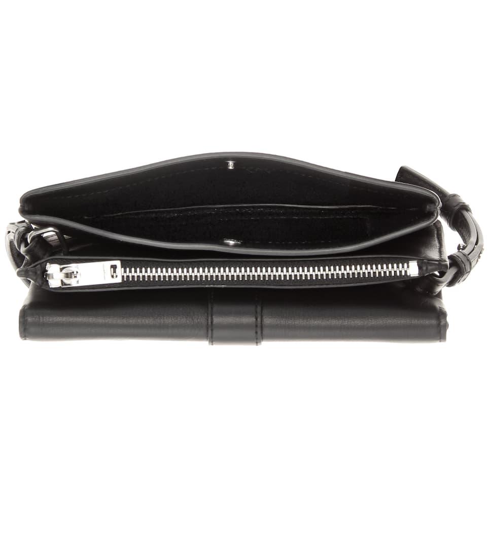 small black bag with chain strap - mytheresa.com - Tri-Pocket leather shoulder bag - Luxury Fashion ...
