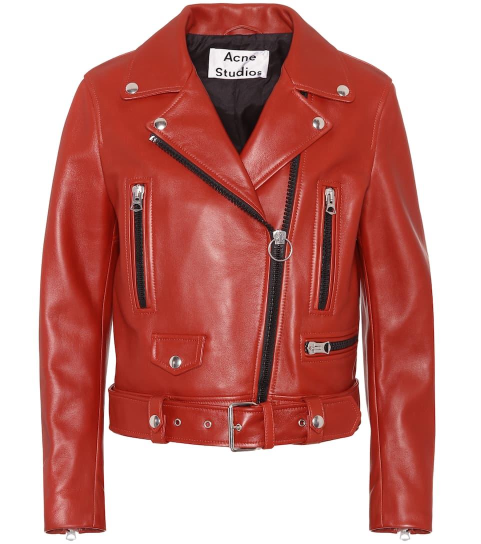 Acne Studios Biker Jacket Mock Of Leather