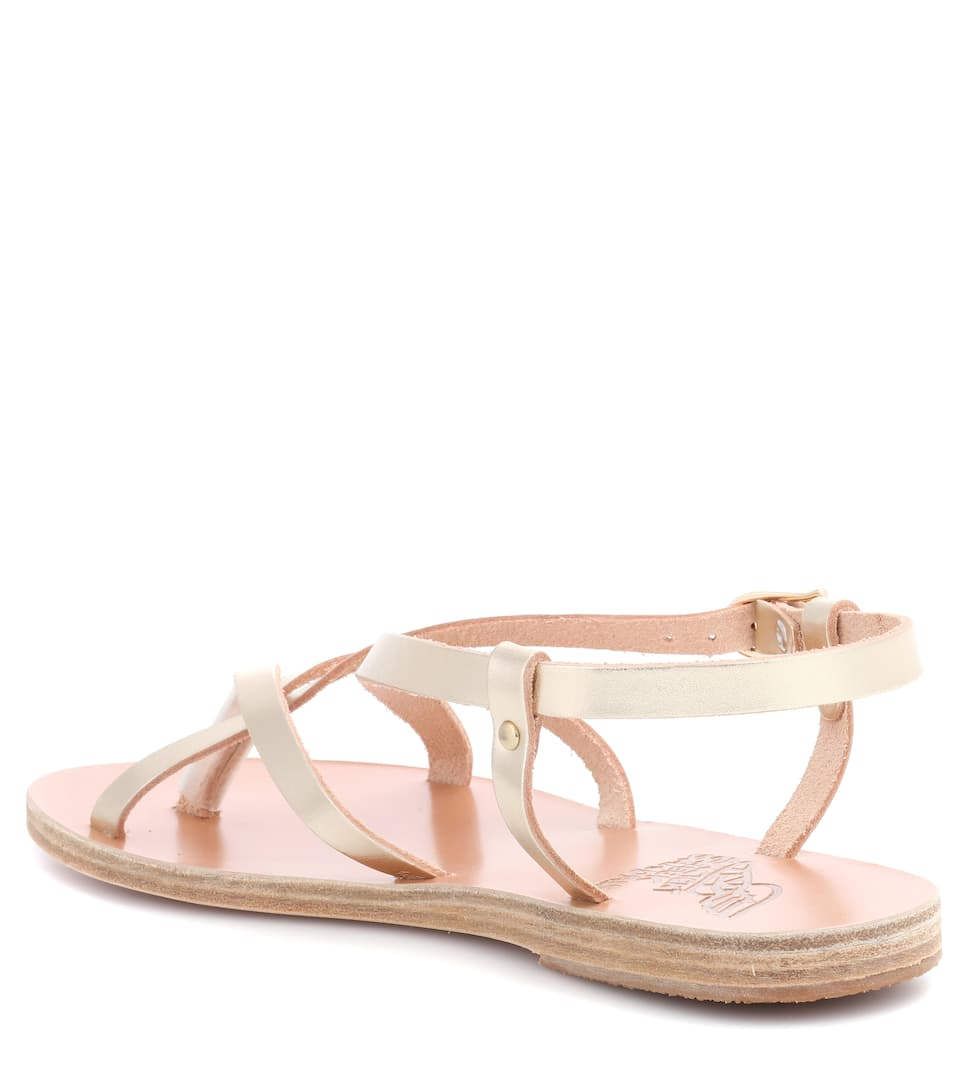 ff5fc5235 Semele Metallic Leather Sandals - Ancient Greek Sandals | mytheresa.com