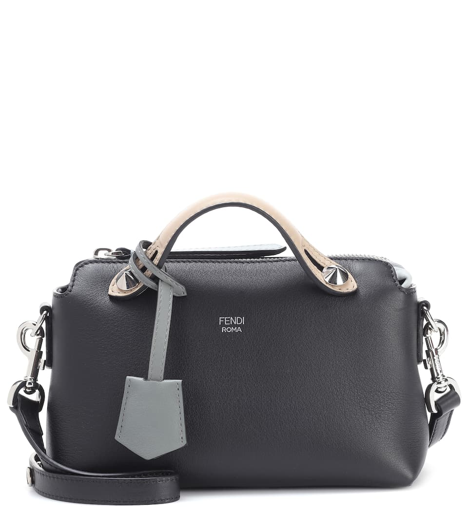 4d32aec72480 Fendi By The Way Mini Leather Shoulder Bag In Black
