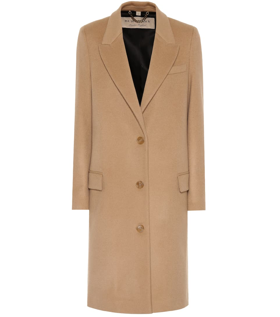 Wool And Cashmere Coat by Burberry