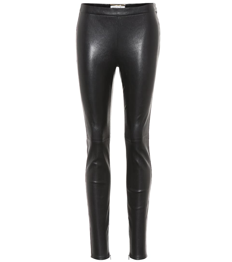 Leather Trousers by Saint Laurent