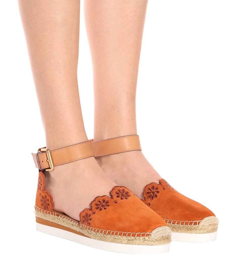Outlet Footaction See By Chloé Suede and leather espadrilles Orange Free Shipping With Mastercard Sale Low Price Fee Shipping QpwY5cjaf