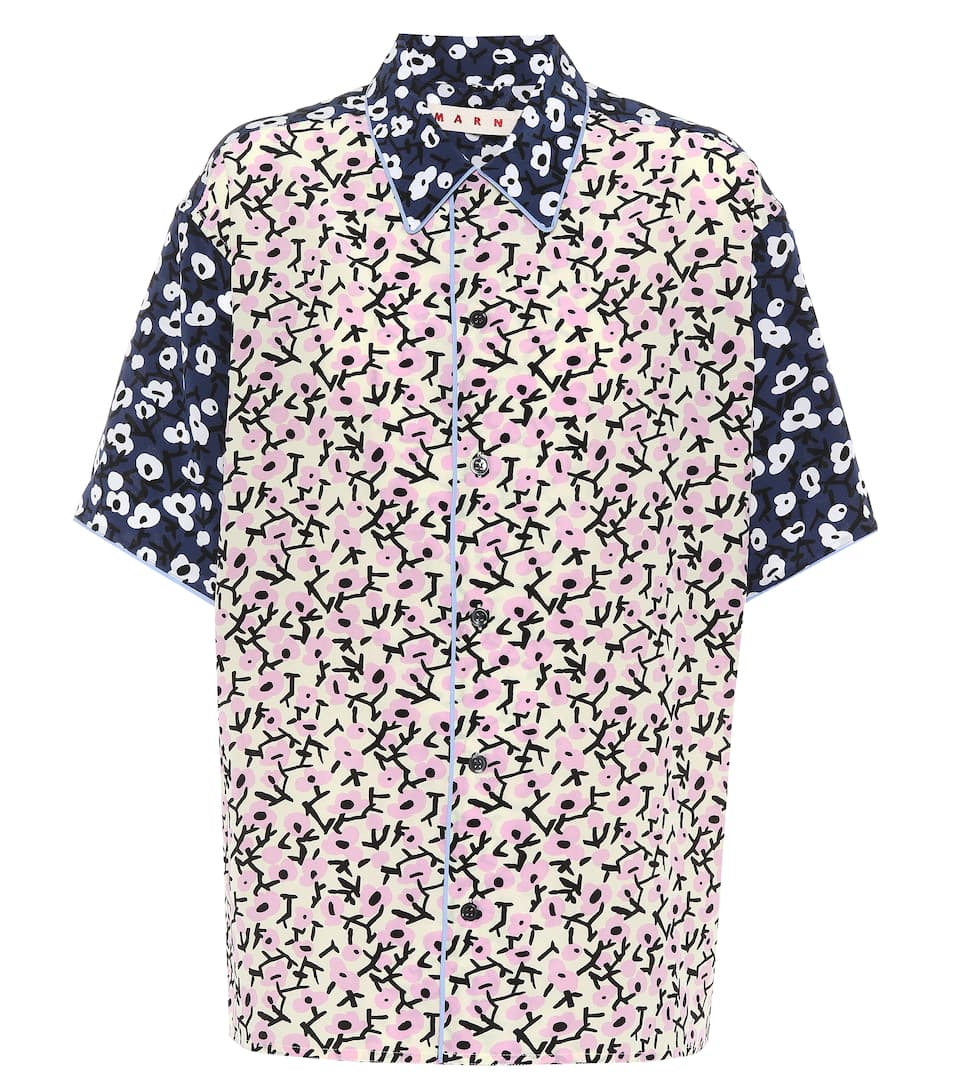 Marni Printed Blouse In Silk