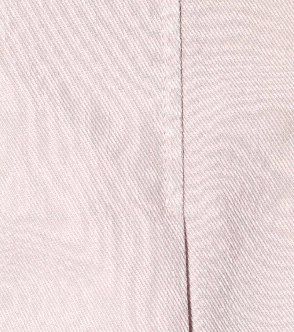 de plisada Minifalda Valentino Watery mezclilla Rose dvw4W7