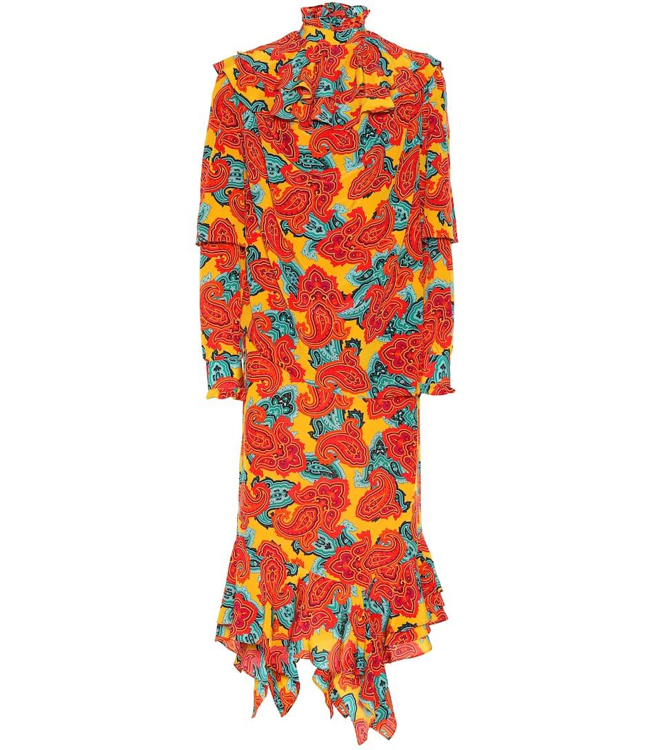 JW Anderson - Robe en soie imprimée