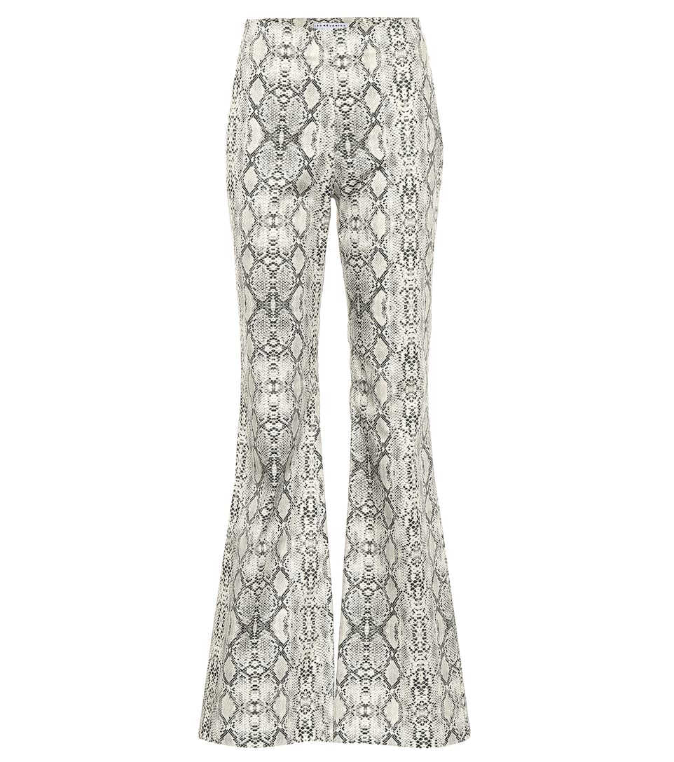 058735376 Les Rêveries - Snakeskin-printed flared pants | Mytheresa