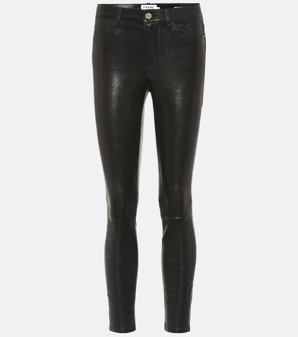 Cuir Frame De Le Pantalon En Skinny Jeanne 8nmN0PvwOy