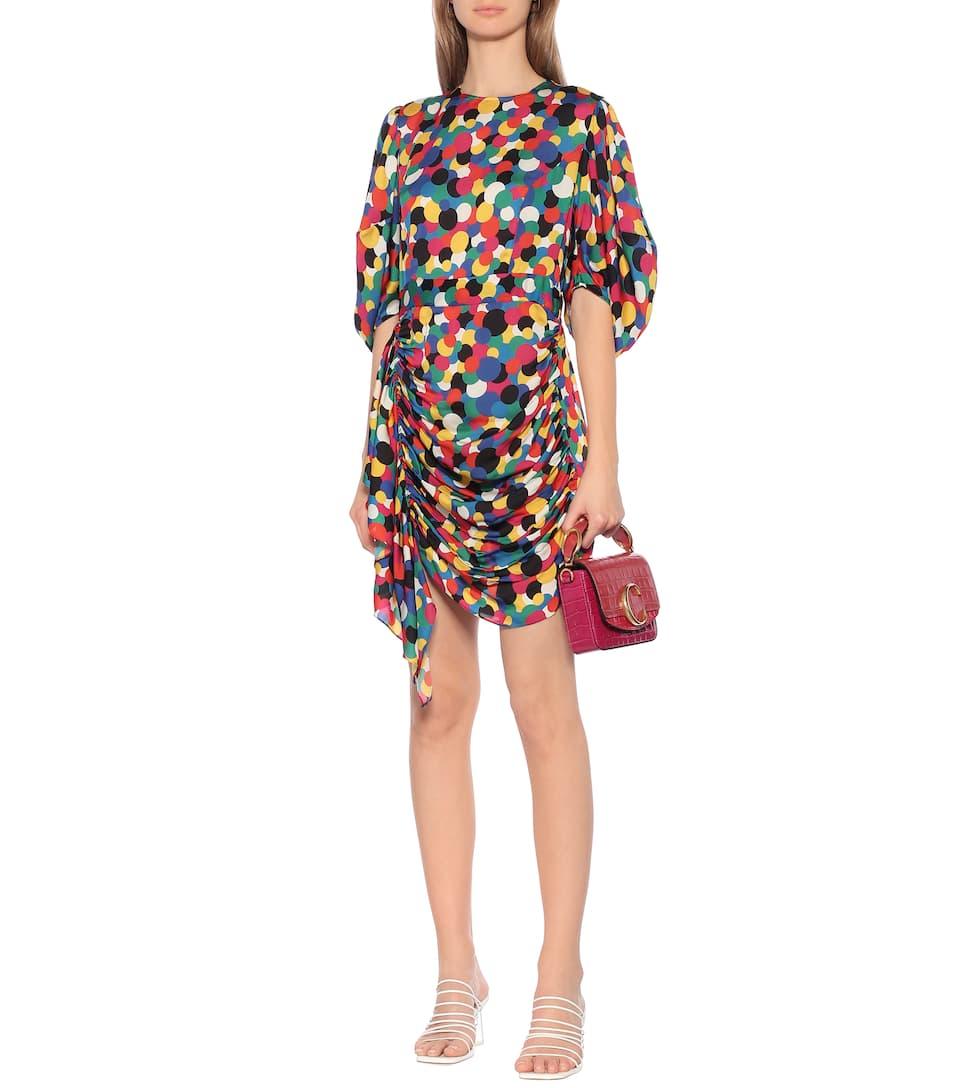 Pia Printed Georgette Minidress - RHODE