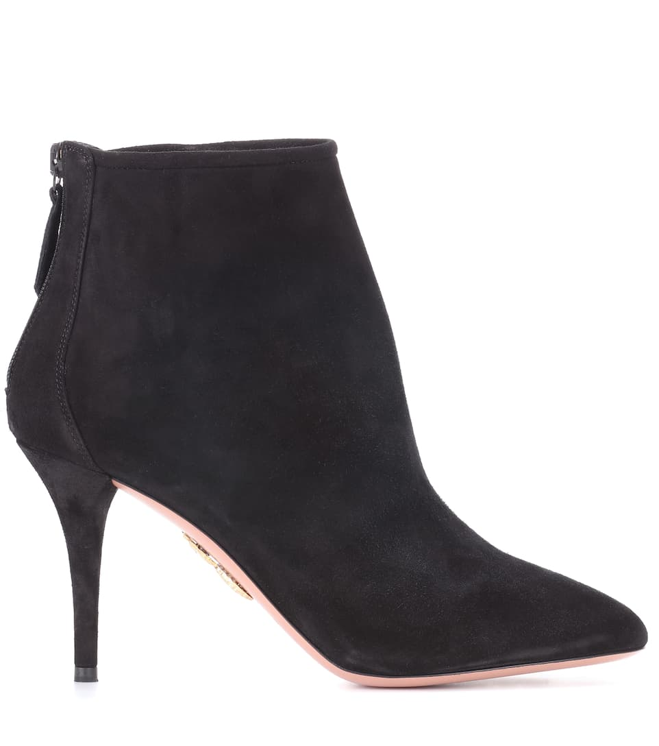 Buy Cheap Low Shipping Fee Cheap Sale With Credit Card Aquazzura Brook 85 suede ankle boots Black xBqtt3