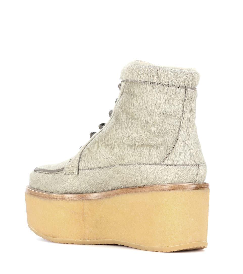 Terrell calf hair platform ankle boots Gabriela Hearst co6xJzs