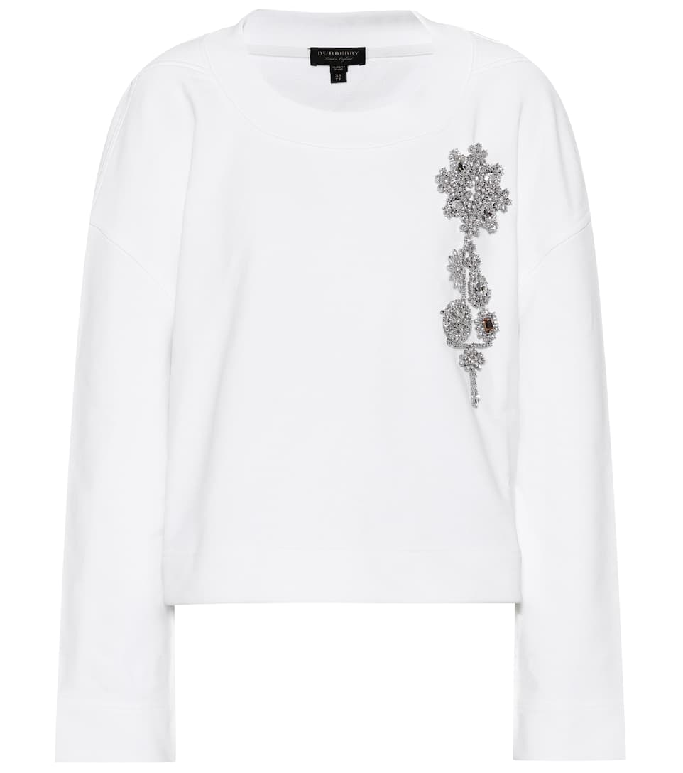 Embellished Cotton Sweater by Burberry