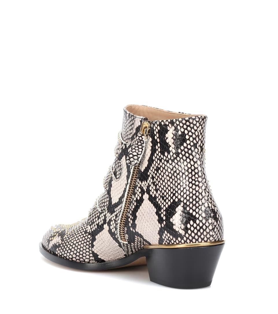 54bcdb38fafe Chloé - Susanna leather ankle boots