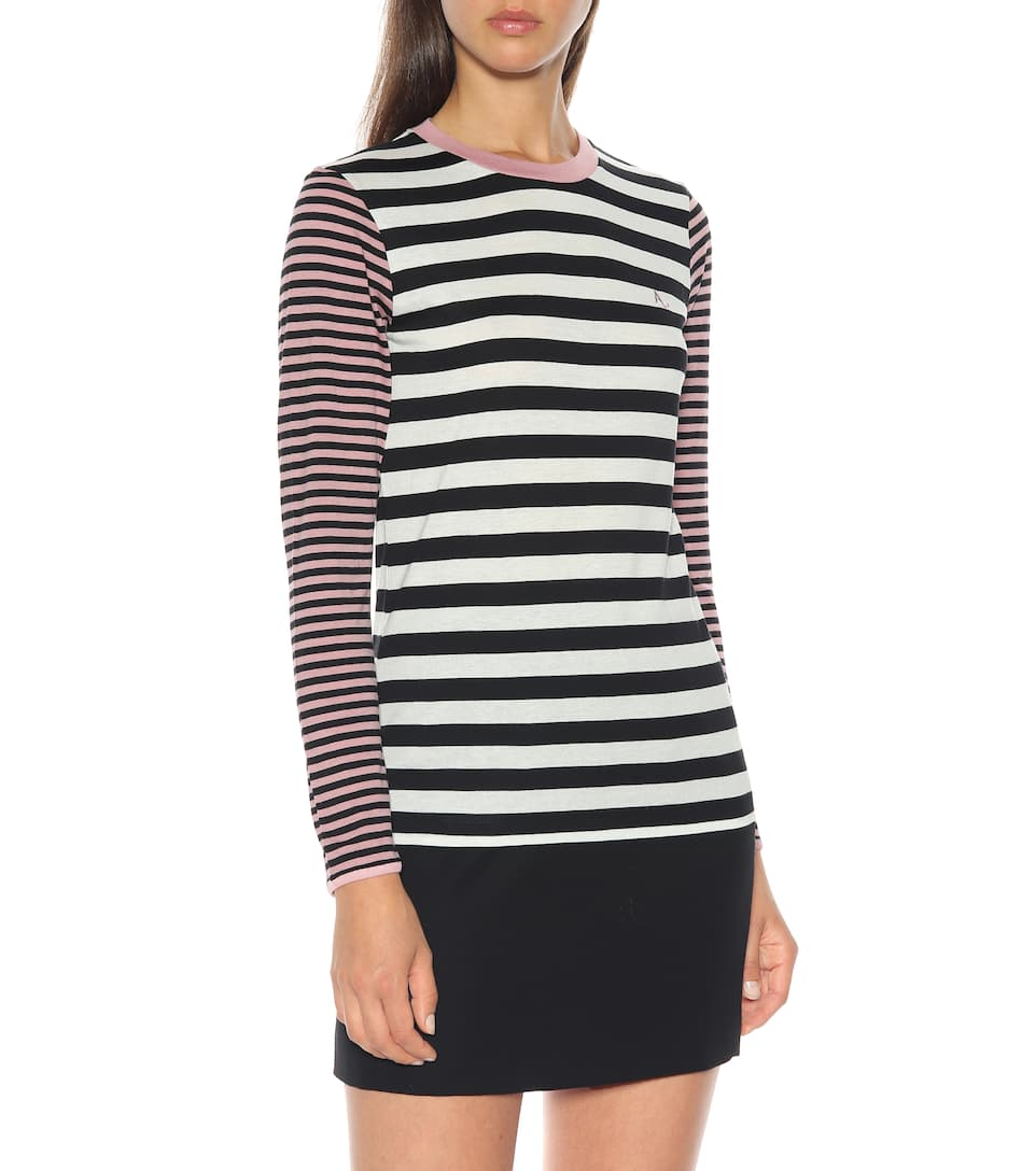 in AlexaChung a Top cotone misto righe HBS6wOx