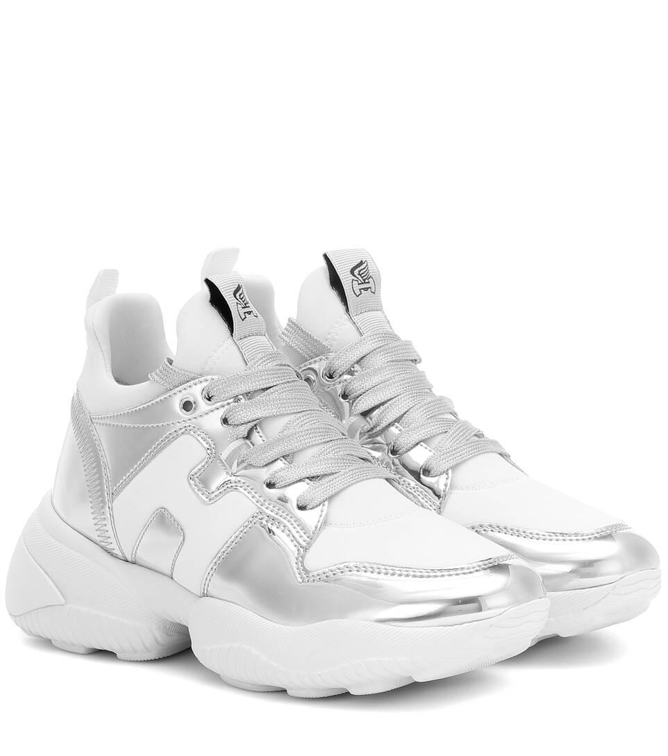 H487 Metallic Leather Sneakers | Hogan