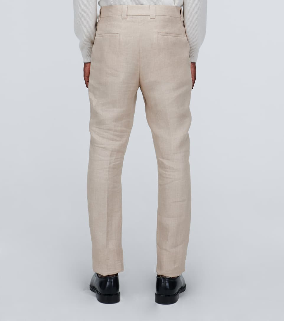 Brunello Cucinelli - Straight-fit Linen Pants Big Discount