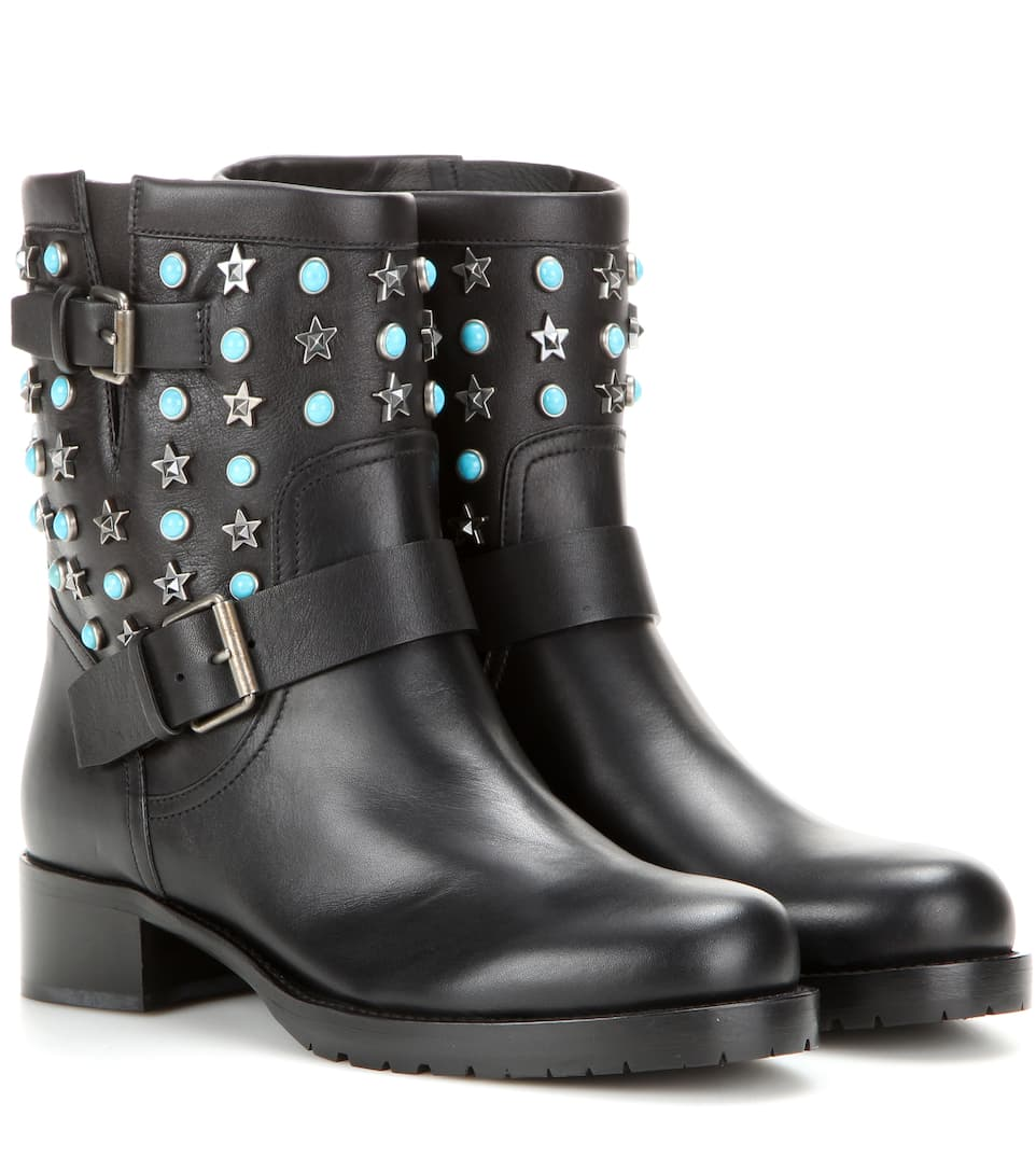 Valentino Starstudded leather boots