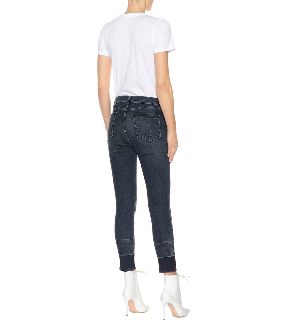 Rag & Bone High-rise Jeans In Cotton-stretch