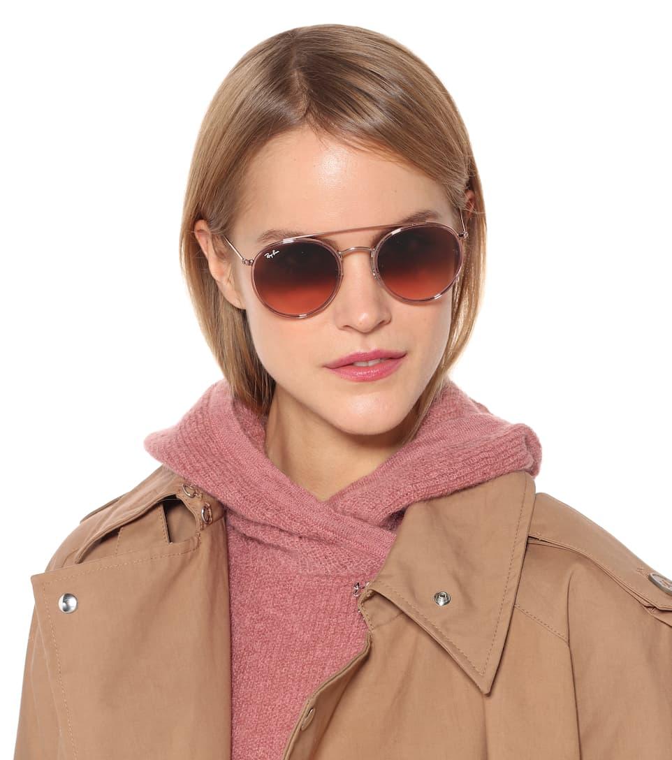 4d48ac42c1 Round Double Bridge Sunglasses