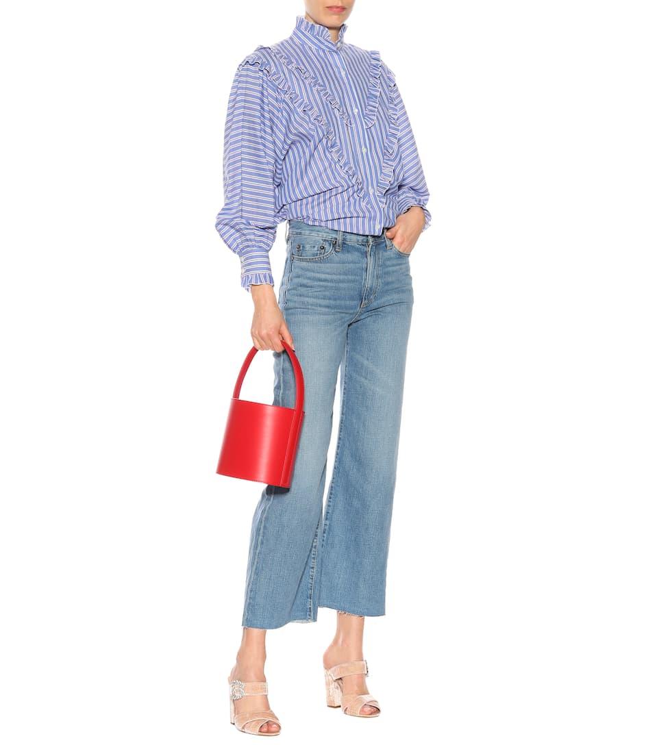 AlexaChung Gestreifte Bluse aus Baumwolle Billig Verkaufen Neu Verkauf Niedrig Kosten Auslass Zahlung Mit Visa Footlocker Günstig Online Rabatte Online JS81SLg7K5
