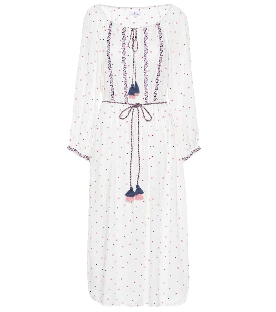 Classique Pas Cher Achats En Ligne Avec Mastercard Velvet - Robe brodée Isilda Qualité Supérieure Rabais officiel dernier PDR9Qc