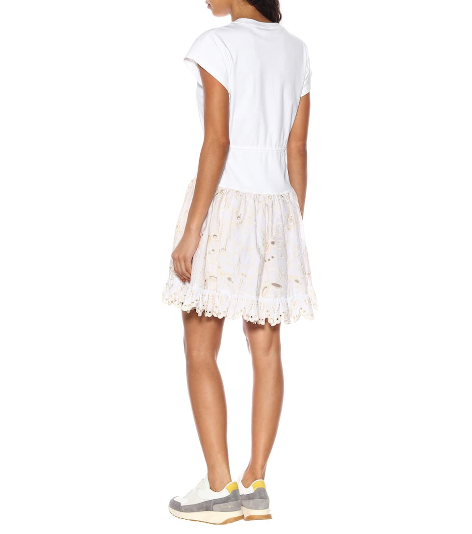 Di E Pizzo Jersey By Chloé In See Abito Cotone H9D2IEW