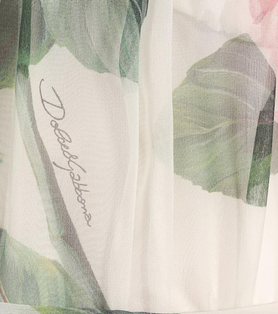 Dolce & Gabbana - Floral silk-chiffon dress