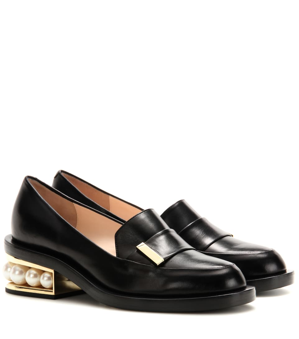 Discount Store Clearance Deals Casati Embellished Metallic Leather Loafers Nicholas Kirkwood Free Shipping Visa Payment ZagpwA