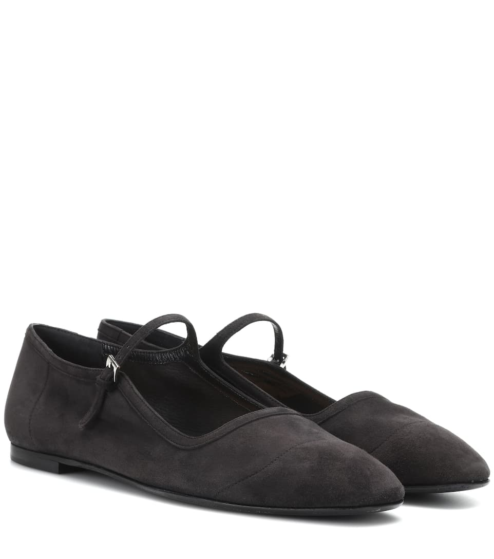 Ava Suede Mary Jane Pumps - The Row