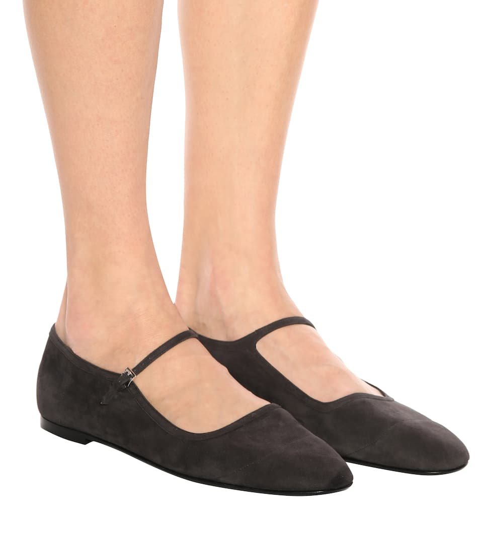 The Row Ballerinas Ava From Suede