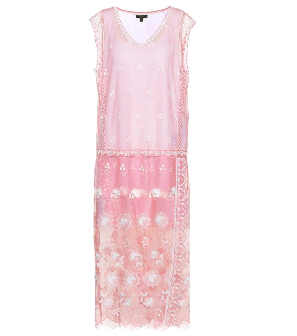 Burberry Besticktes Kleid aus Tüll