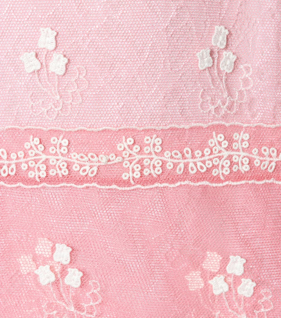 de vestido bordado rosa tul Burberry 5xTYgwnqwB