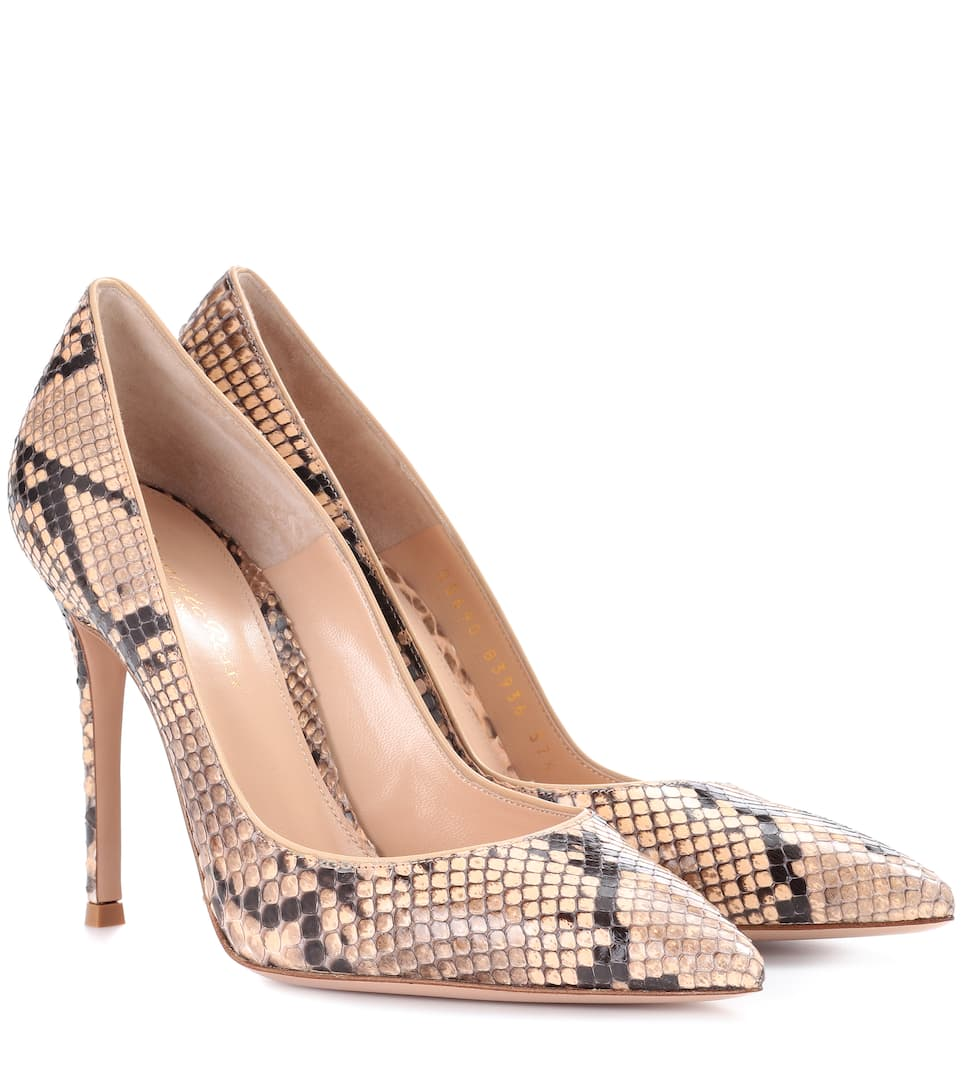 Exclusive to mytheresa.com - snakeskin loafers Gianvito Rossi 2VKOX8wco
