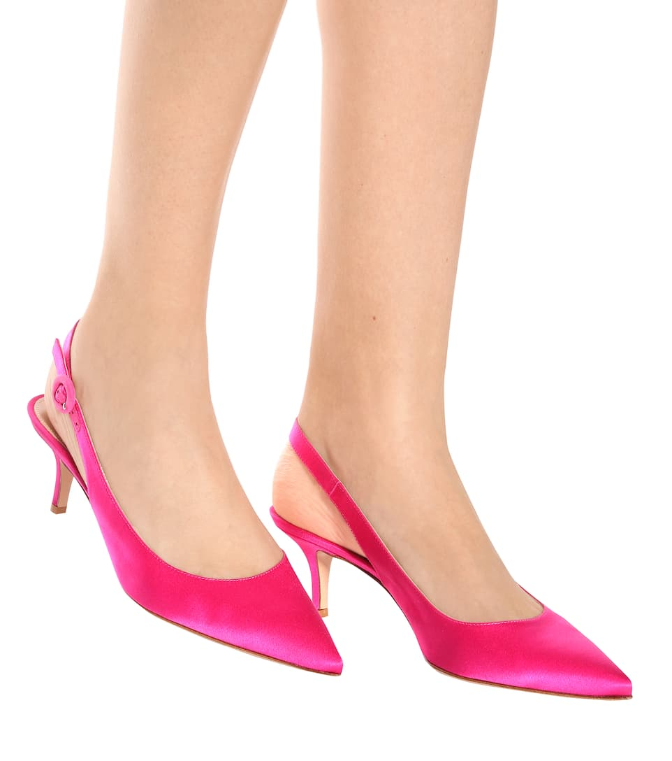 Gianvito Rossi Slingback-Pumps aus Satin