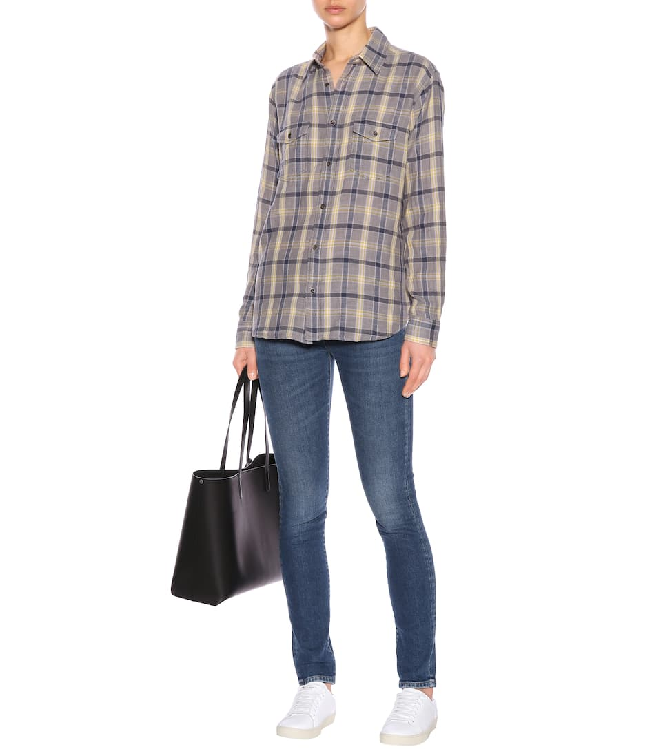 Saint Laurent Kariertes Hemd aus Baumwolle