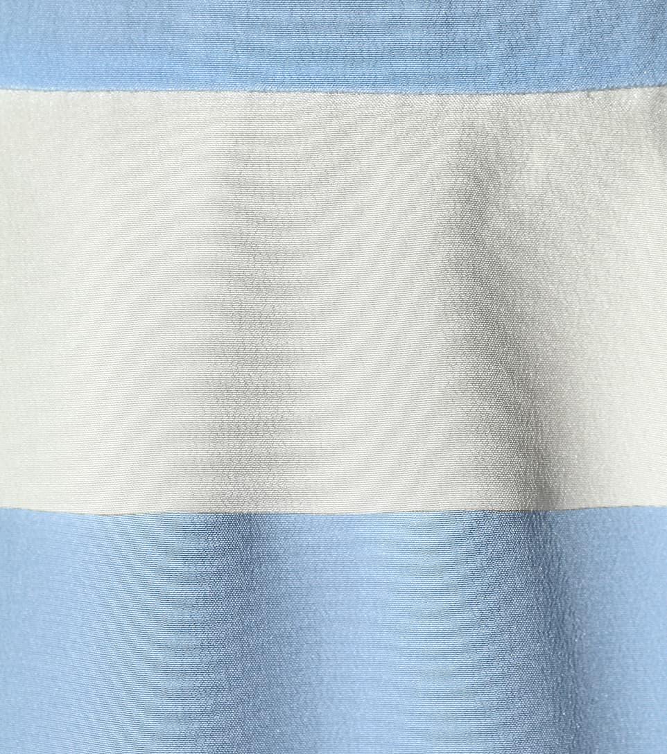 REDValentino Silk ruffle dress Delfinium/Avorio Prices Cheap Online With Paypal Sale Online How Much Cheap Price yxXYNCIEeW