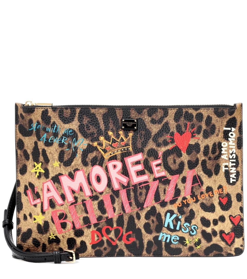 amp; Gabbana Pochette Cuir Imprimé En Dolce qxw1BwTHZ